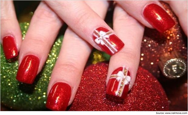 Fun-Fimo-Nail-Art-fimo-shimmery-gold-specky-red