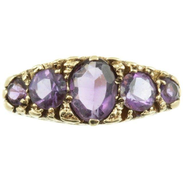 gold amethyst ring