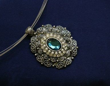 wearing antique jewellery