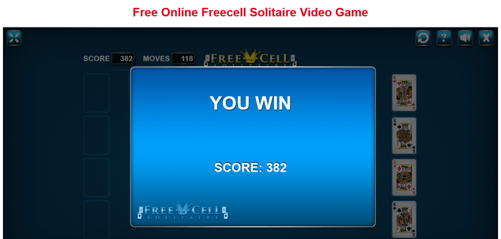 Free Online Free Cell Solitaire